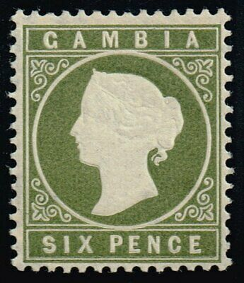 Gambia 1887 6d. olive-green, MH (SG#32d)