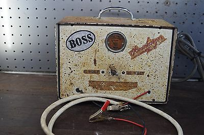 Vintage Boss Battery Charger Garage  Man Cave Old Tools