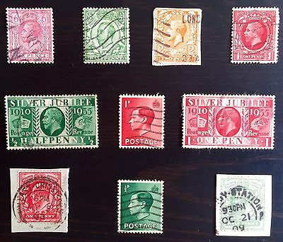 Antique Rare Collectible Set Of Great Britain British England Postage Stamps