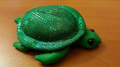 """Green Sand Filled Sea Turtle, Small 3"""" x 2"""""""