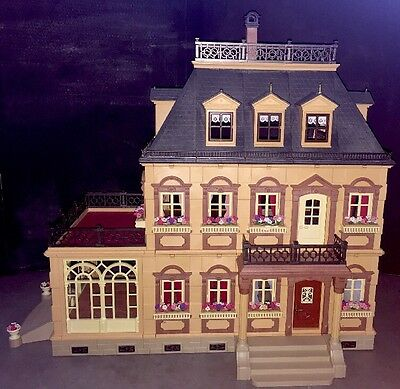 Playmobil 5300 Victorian Mansion Dollhouse 3 Stories with Patio Complete