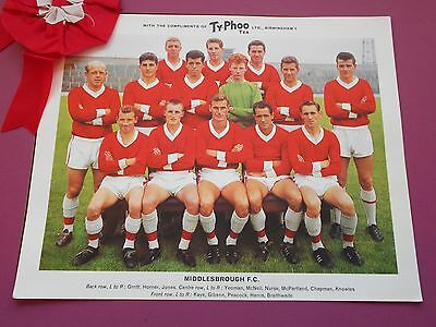 Typhoo Famous Football Clubs Middlesbrough Series 1 1964 Excellent Condition