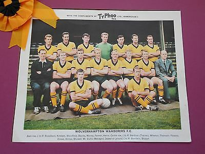 Typhoo Famous Football Clubs Wolverhampton Wanderers Series 1 1964 Excellent