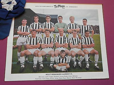 Typhoo Famous Football Clubs West Bromwich Albion Series 1 1964 Excellent