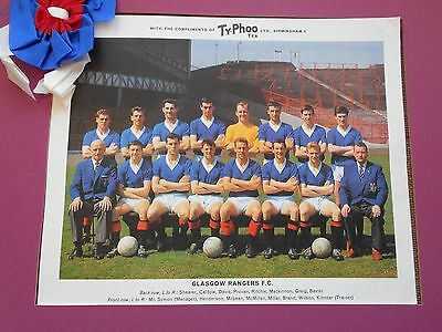 Typhoo Famous Football Clubs Glasgow Rangers Series 1 1964 Excellent Condition