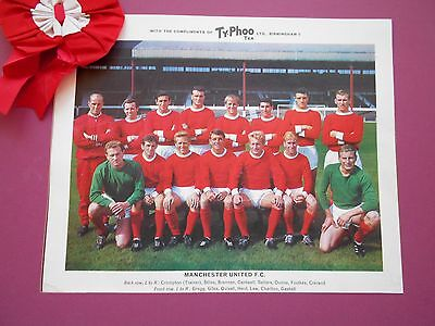 Typhoo Famous Football Clubs Manchester United Series 1 1964 Excellent Condition