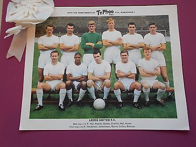Typhoo Famous Football Clubs Leeds United Series 1 1964 Excellent Condition