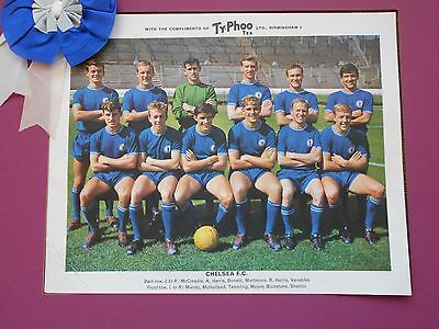 Typhoo Famous Football Clubs Chelsea Series 1 1964 Good Condition