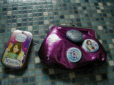 Disney Store Wizards of Waverly Place Pink Metallic Purse NEW!