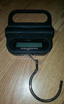 Used L L Bean Luggage Scale / Alarm black Color xed still working good condition
