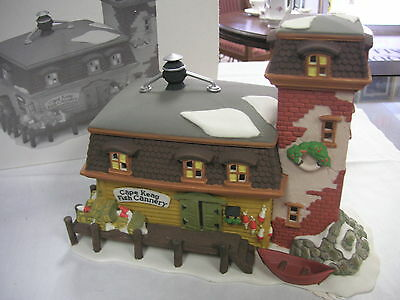 """Dept.56  England Village """"Cape Keag Fish Cannery"""" #56529  Retired Department 56"""
