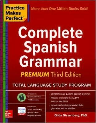NEW Practice Makes Perfect Complete Spanish Grammar By Nissenberg Paperback