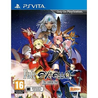 Fate Extella The Umbral Star PS Vita Game Brand New