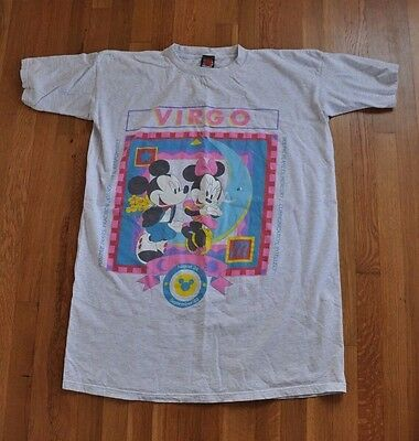 Vintage Mickey Unlimited Virgo Zodiac Long Shirt One Size - Minnie Mouse Horosco