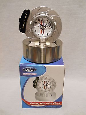 Ford Mustang - Turning Disc Desk Clock - Rotor Spins - Engine Sound Effects 2005