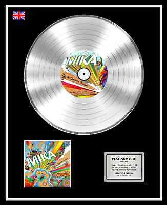 MIKA Ltd Edition CD Platinum Disc Record LIFE IN CARTOON MOTION