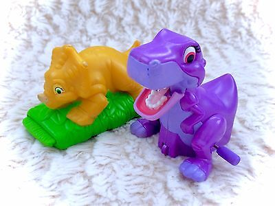 Vintage The Land Before Time Little Foot & Sara Wind Up Toys Plastic Burger King
