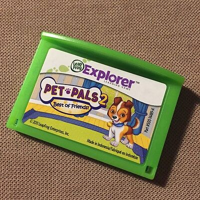 Leapfrog Leapster Explorer Pet Pals 2 Best of Friends Game Cartridge for LeapPad