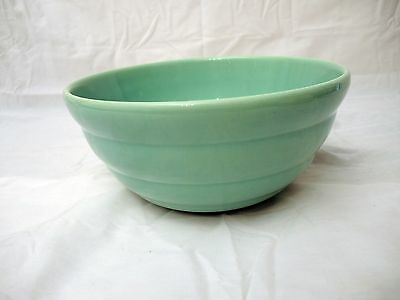 Vintage Bauer Pottery Green Ring Ware Mixing Bowl - # 12