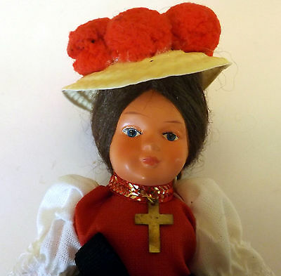 "Celluloid German Costume Doll 6"" Excellent"