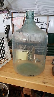 BIG 1944 13 GALLON GLASS WATER BOTTLE DEMIJOHN CARBOY Helena Mt. Check Shipping