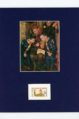 Rockwell's Boy Scouts & Cub Scouts & Boy Scout Stamp of the 40th Anniversary