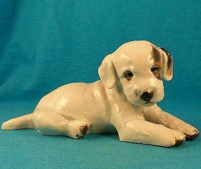 ROSENTHAL OLD vintage Fox Terrier puppy FREE SHIPPING Karner 1946 HTF dog