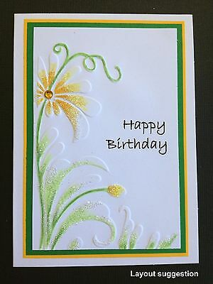 White Embossed & Printed Toppers X 5 Mixed Embossing For Birthdays