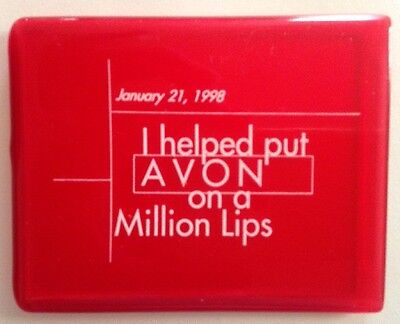 Avon Pocket Mirror With Red Case *lipstick Campaign *perfect!!