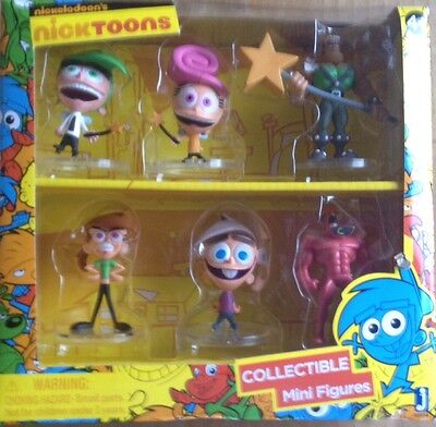 New Nickelodeons Nicktoons Fairly Odd Parents Collectible Mini Figures