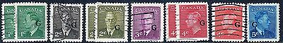 Canada KGVI 1950-52 G Overprint Used Selection