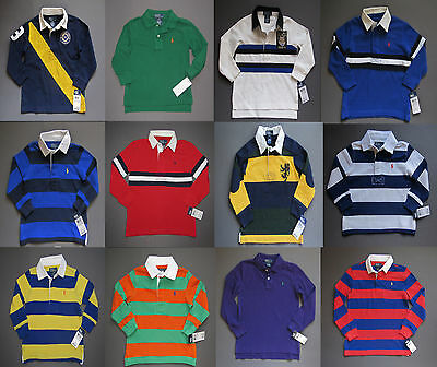Ralph Lauren Polo Rugby Polo Shirt long sleeve Kids Sizes 2 3 4 5 6 Genuine NWT
