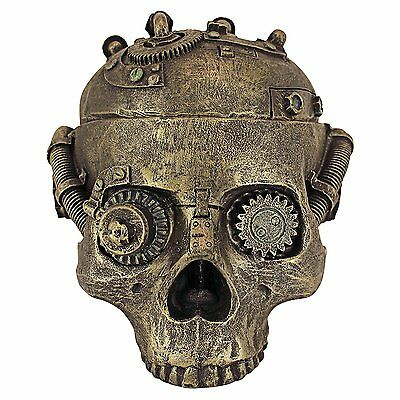 Design Toscano Steampunk Skull Containment Vessel  [CL6067] {Painted Bronze} CXX