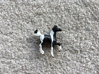 Rare Breyer Horse Mini Whinnies #300109 Black Pinto Prancing Foal Collection