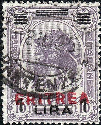 Eritrea 1924 1l on 10a Overprint on Somalia Used