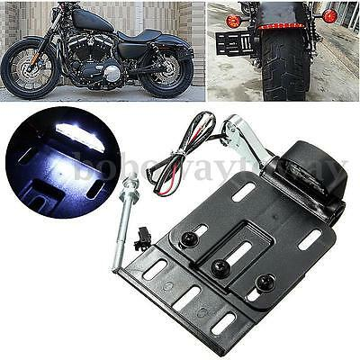 Plaque d'immatriculation Latéral Licence LED pour Harley Sportster XL Dyna 04-UP