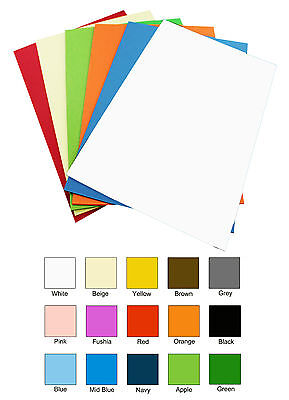 10 x A4 MIXED COLOUR PACK - Vinyl Transfer Iron On Heat Press Sheets- For Fabric