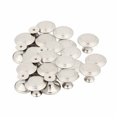 Household Closet Chest Stainless Steel Single Hole Pull Knobs 27.5mmx22mm 30pcs