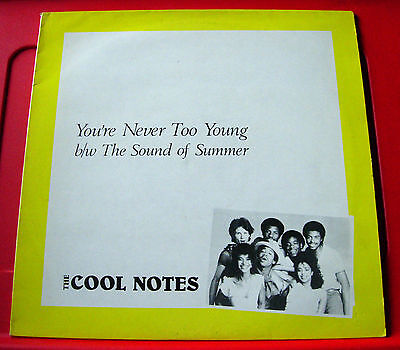 """The Cool Notes You're Never Too Young 12"""" PC UK ORIG 1984 Abstract Dance VINYL"""