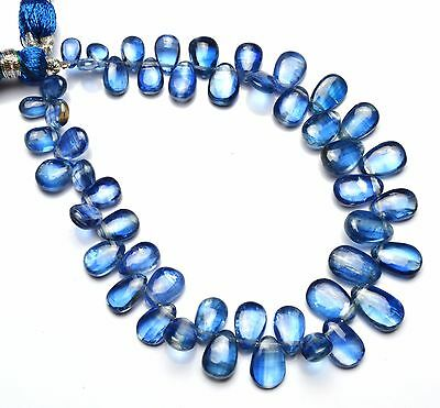 """Natural Gem Fine Quality Kyanite Smooth 4x6 to 7x10MM Pear Shape Briolettes 7"""""""