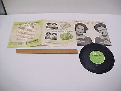 Wrigley's Doublemint Chewing Gum 45 Record with Twins Joan & Jayne