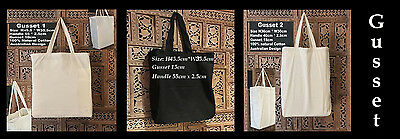 Calico Bags Gusset Black Gusset Calico Bags Shopping Bags Bulk Calico Bag