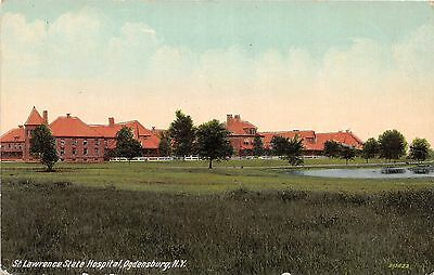 B87/ Ogdensburg New York NY Postcard c1910 St Lawrence State Hospital 2