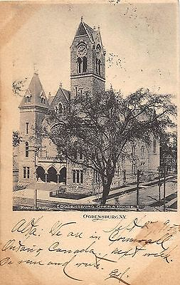B87/ Ogdensburg New York NY Postcard 1905 Town Hall and Opera House 3