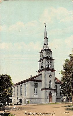 B87/ Ogdensburg New York NY Postcard c1910 Methodist Church Building