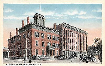 B87/ Ogdensburg New York NY Postcard c1910 Seymour House Hotel Building 2