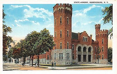 B87/ Ogdensburg New York NY Postcard c1910 State Armory Building