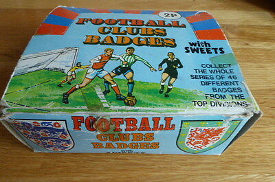 Somportex Gum Super Rare Full Box 46 Football Club Badges In Wrappers  1974