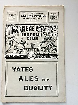 Tranmere Rovers v Chesterfield 1957-58 (Div 3 North)