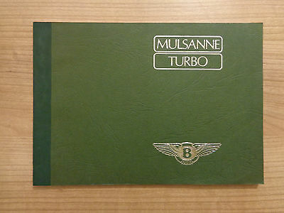 Bentley Mulsanne Turbo NEW Service History Book
